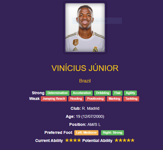 Vinicius Junior wonderkid