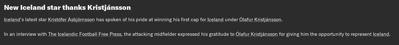 First cap Kristjannson.png