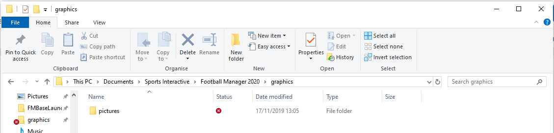 Football Manager Graphics Folder