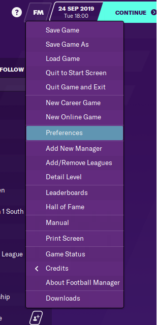 Football Manager Preferences